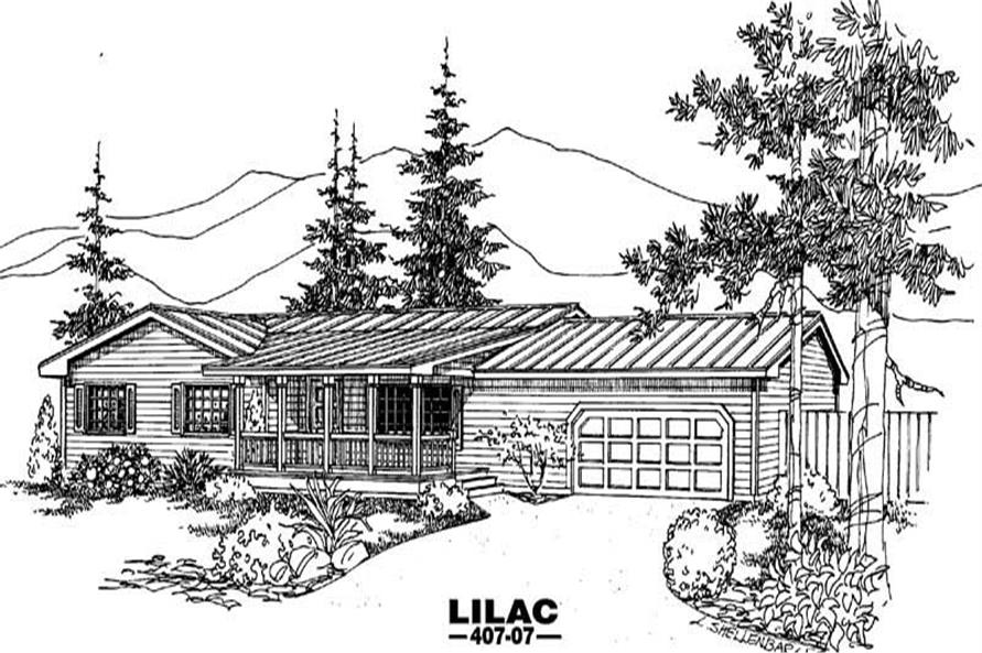 Main image for house plan # 6606
