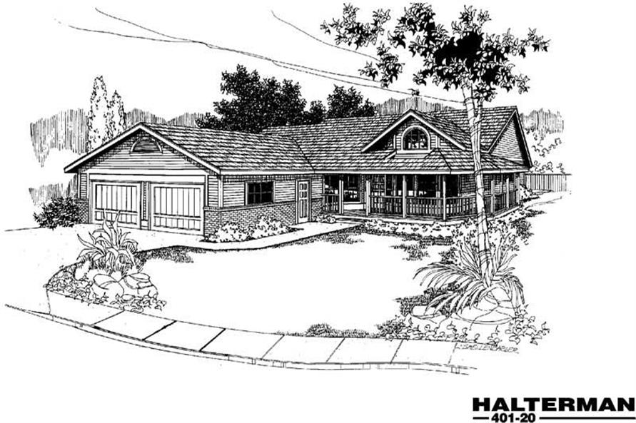 Main image for house plan # 3897