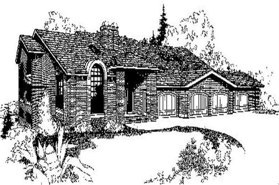 Main image for house plan # 9015