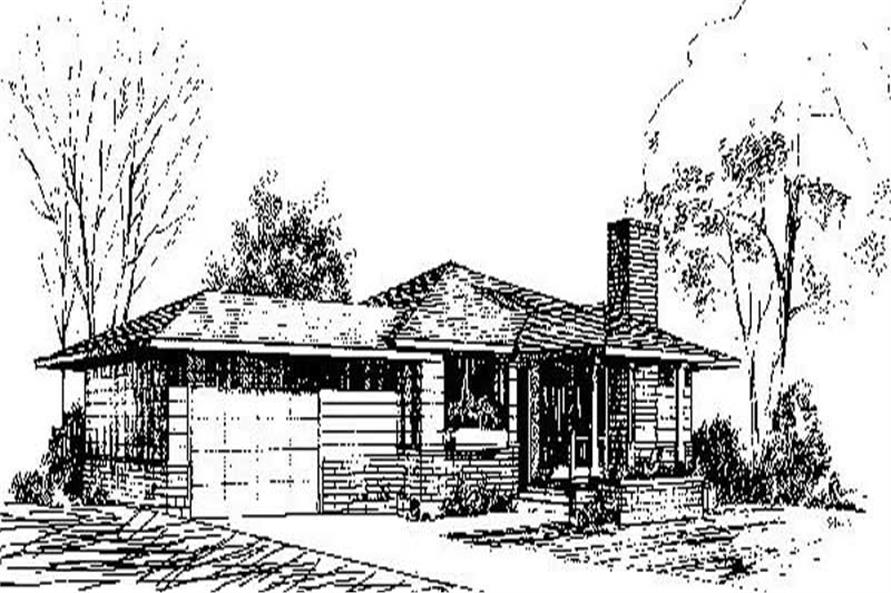 Main image for house plan # 9027