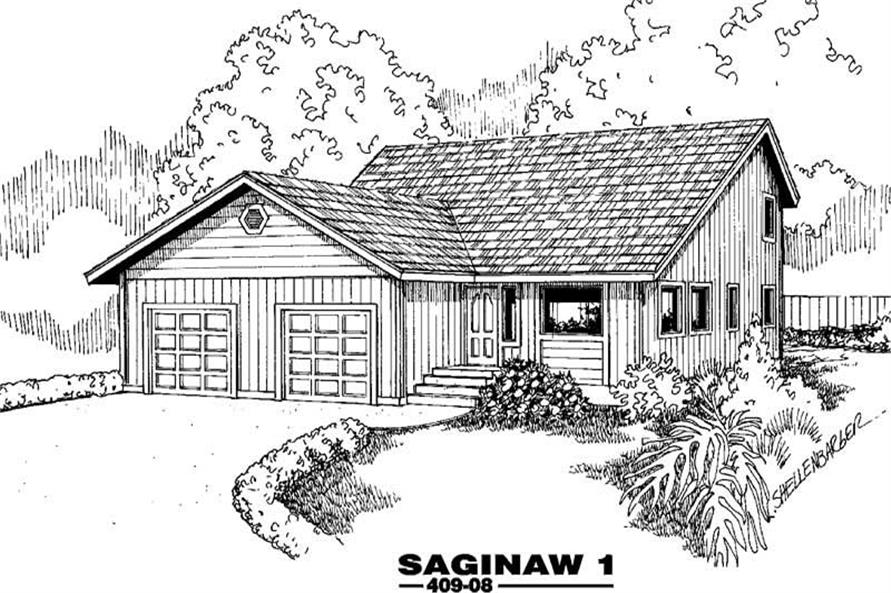 Main image for house plan # 9069