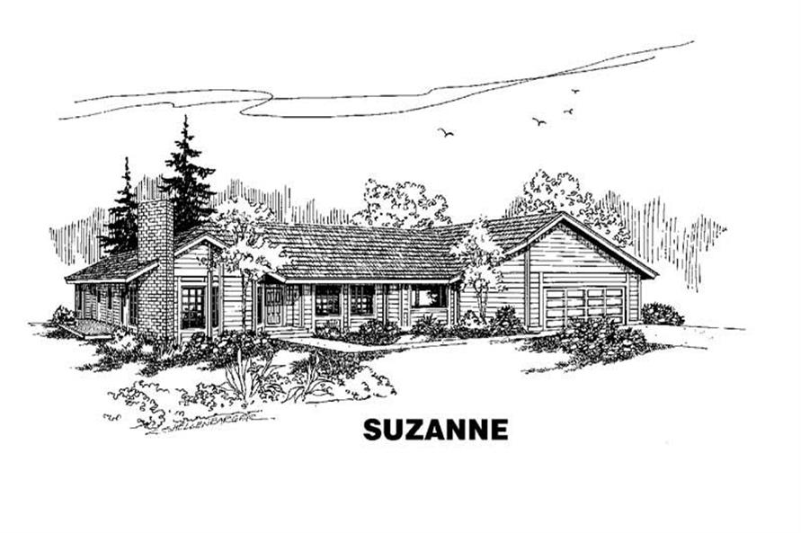 Main image for house plan # 9115