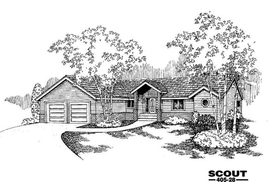 Main image for house plan # 9107