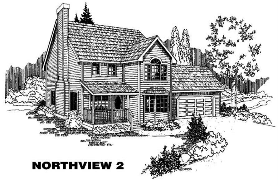 Main image for house plan # 9104
