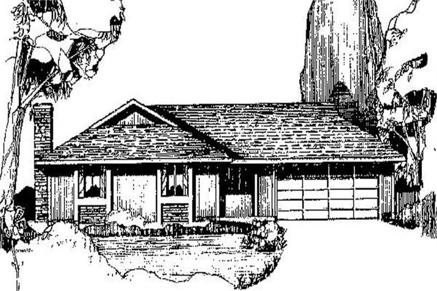 Main image for house plan # 8964