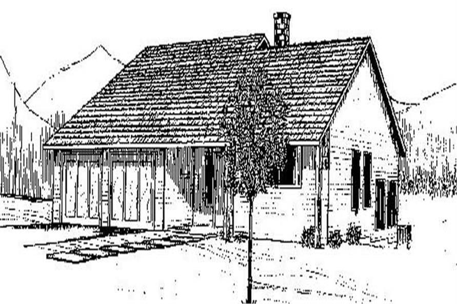 Main image for house plan # 8945
