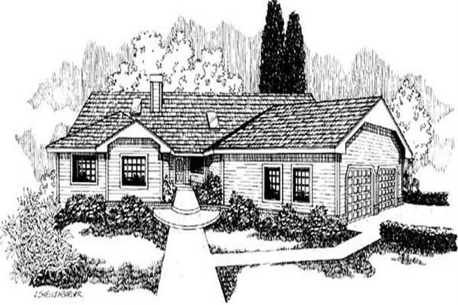 Main image for house plan # 9150