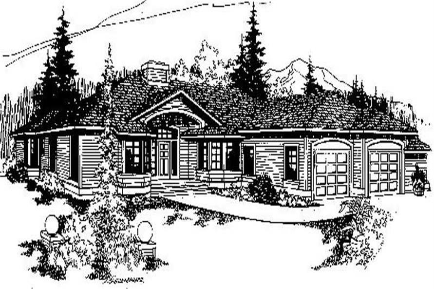 Main image for house plan # 9151