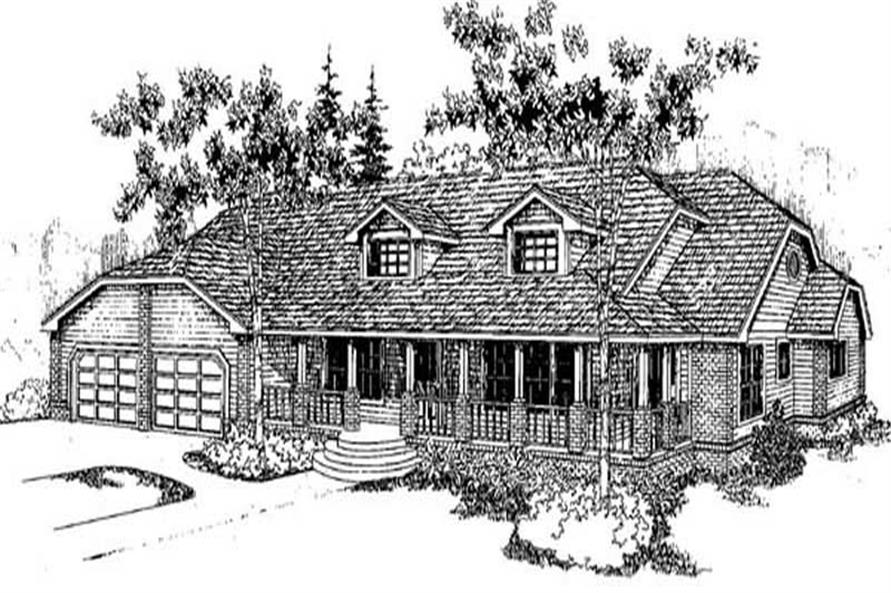 Main image for house plan # 9156