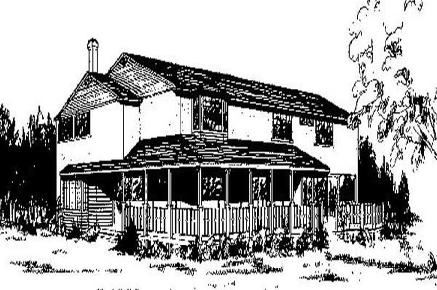 Main image for house plan # 8986