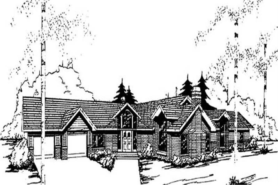 Main image for house plan # 9143