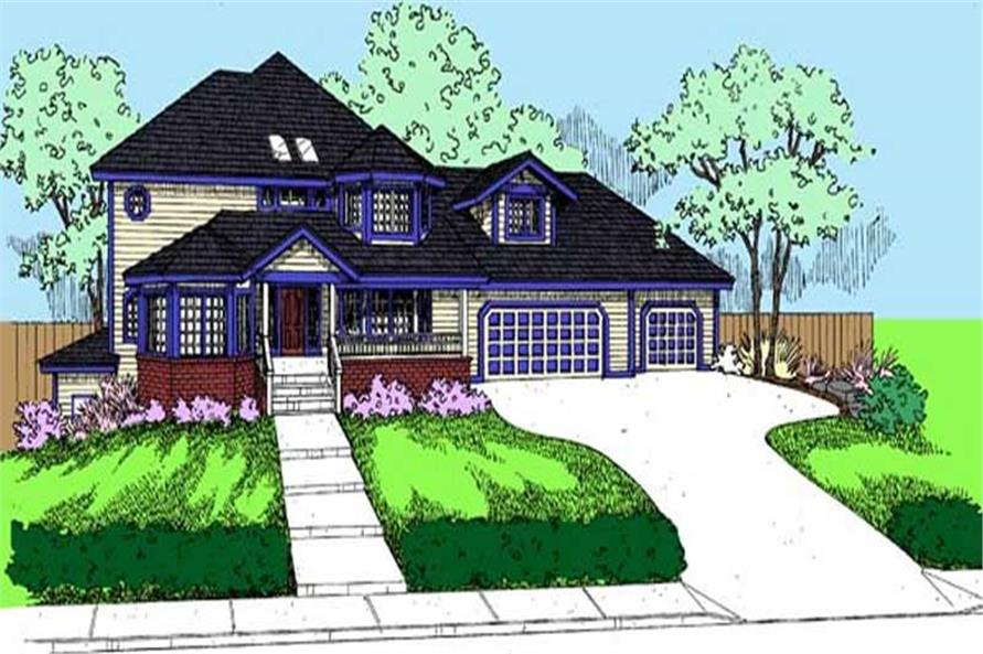 Main image for house plan # 9093