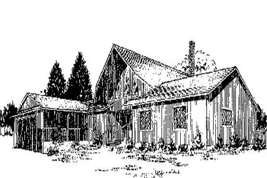 Main image for house plan # 8845
