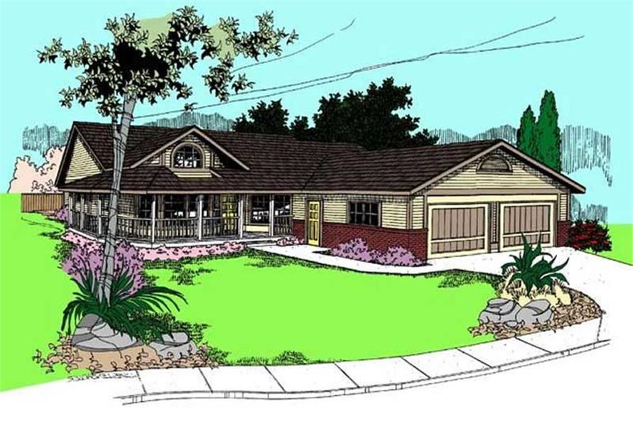 Main image for house plan # 8899