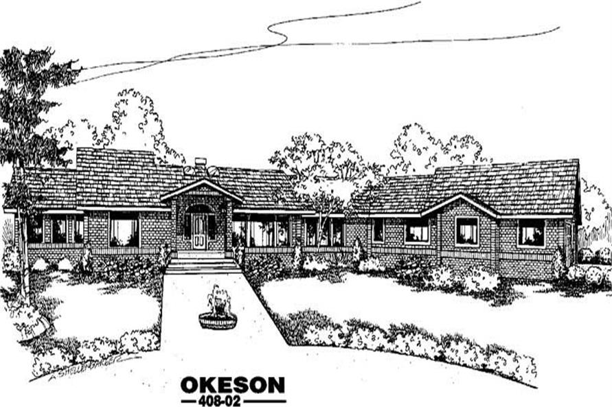 Main image for house plan # 9091