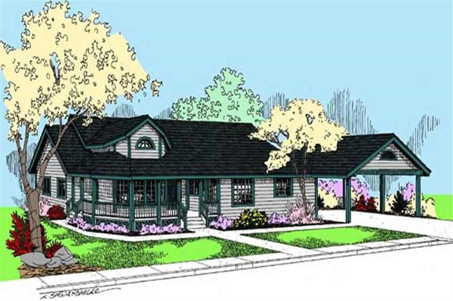 Main image for house plan # 9095