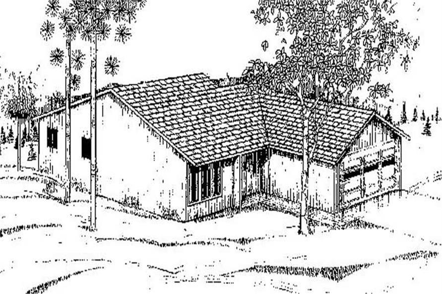Main image for house plan # 8878