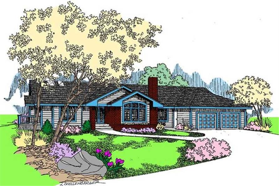 Main image for house plan # 9110