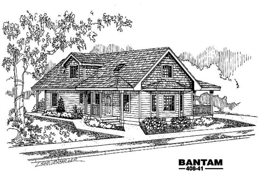 Main image for house plan # 9075