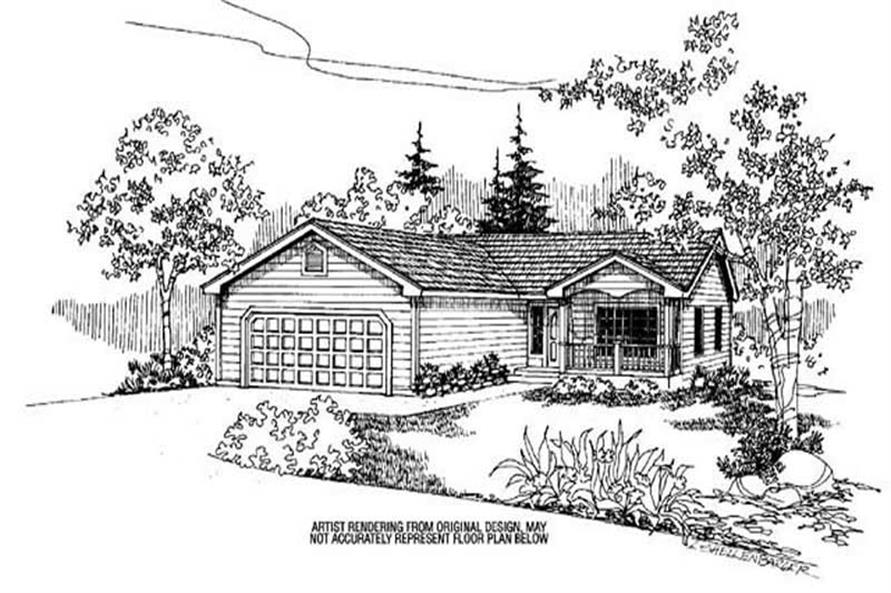 Main image for house plan # 9064
