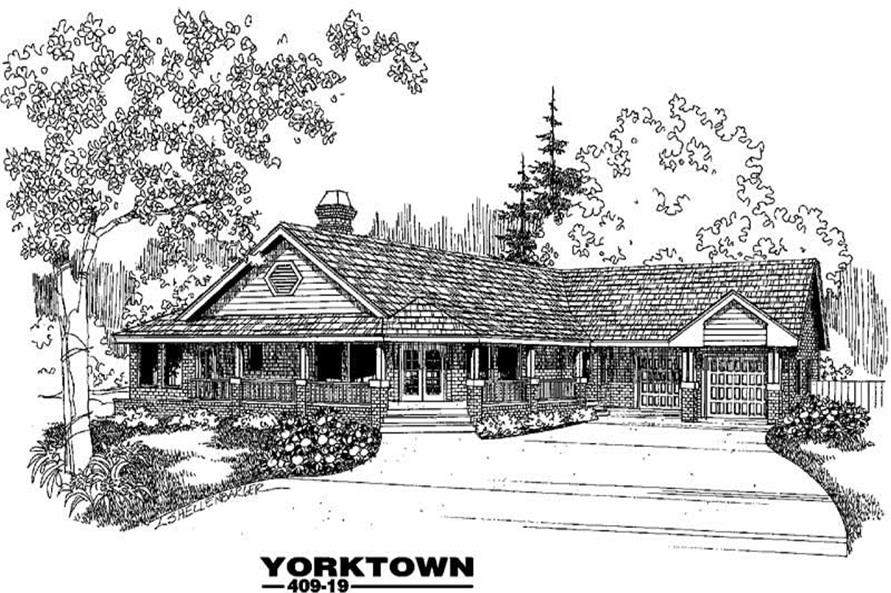 Main image for house plan # 9061