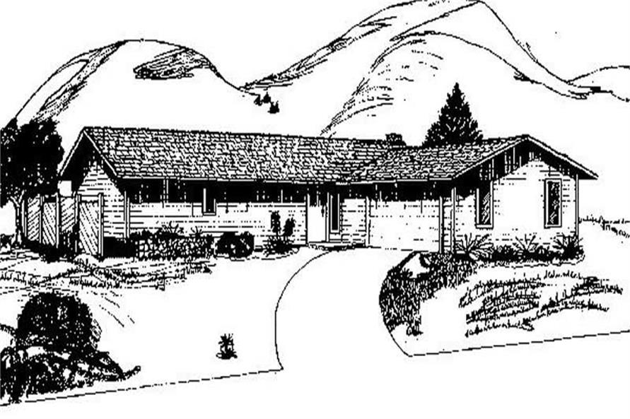 Main image for house plan # 8954