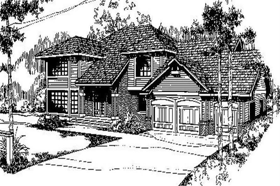 Main image for house plan # 9153
