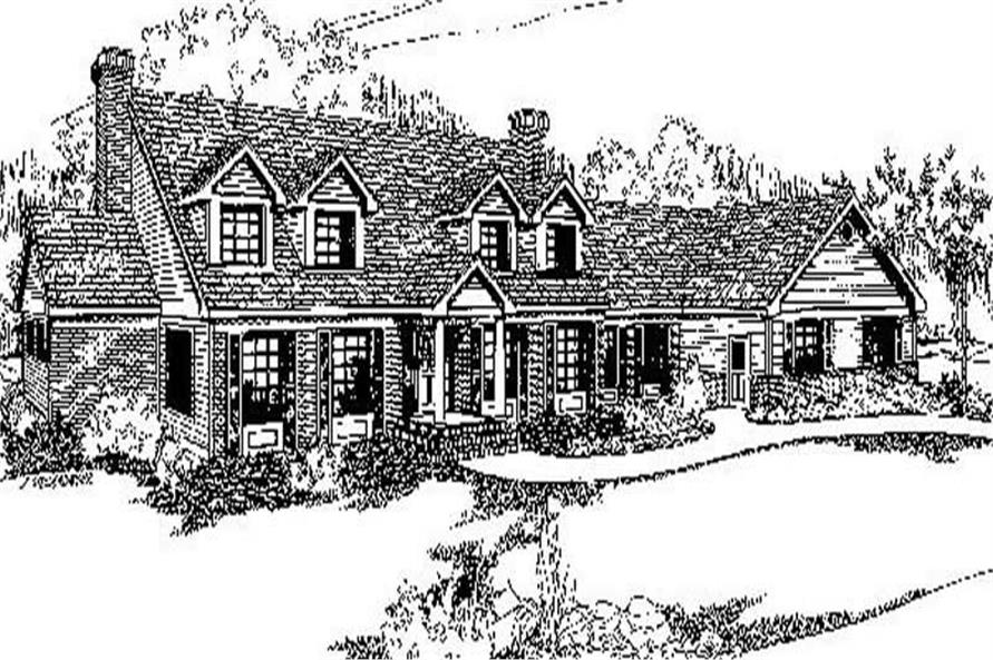 Main image for house plan # 9155
