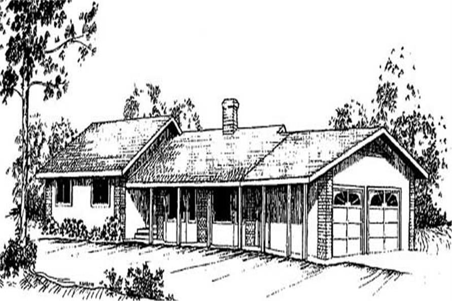 Main image for house plan # 9031