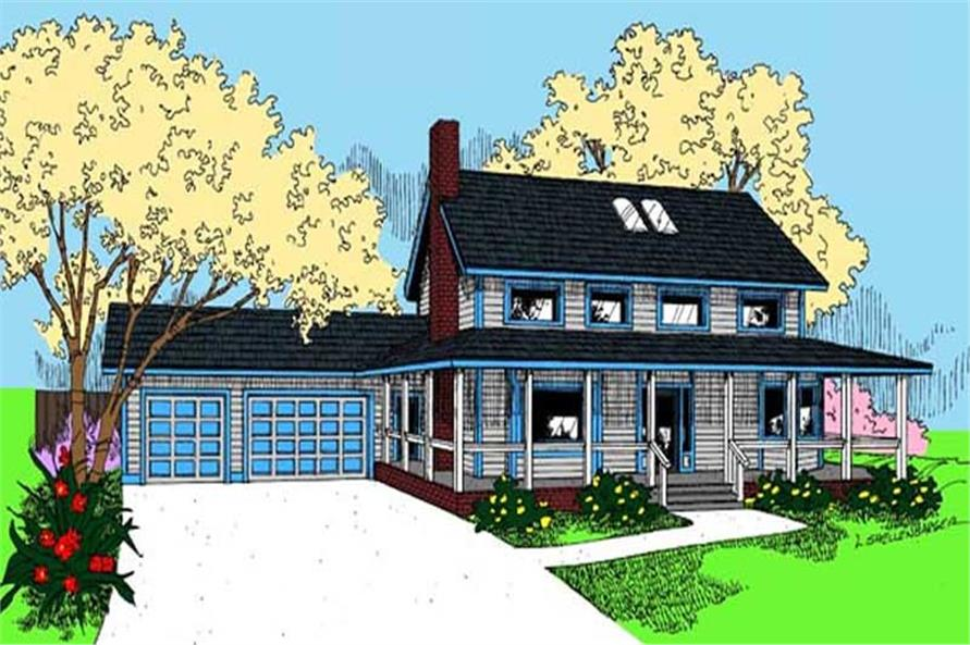 Main image for house plan # 9109