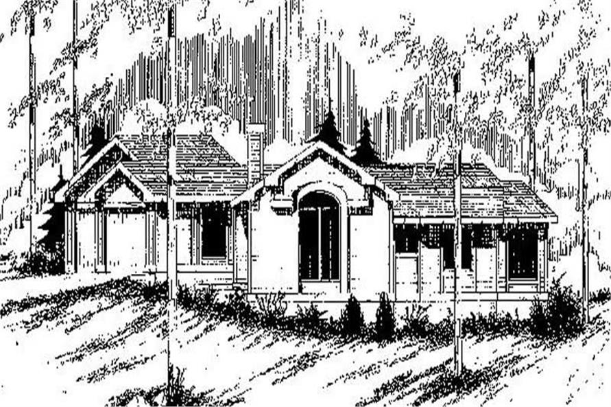 Main image for house plan # 9140