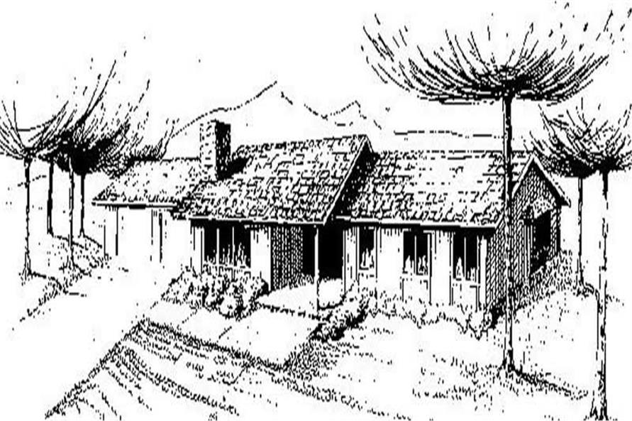 Main image for house plan # 8885
