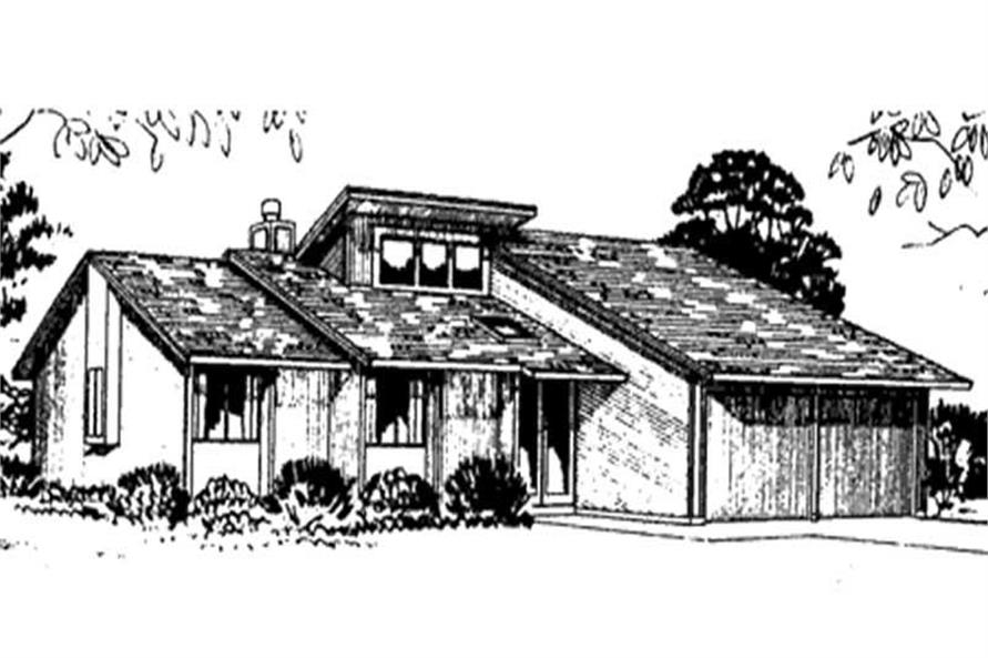 Front View from an LS-H-2111-1B home plan