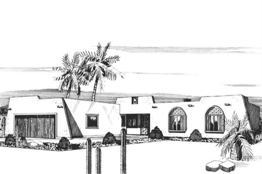 Front View of home plan LS-H-1395-1B