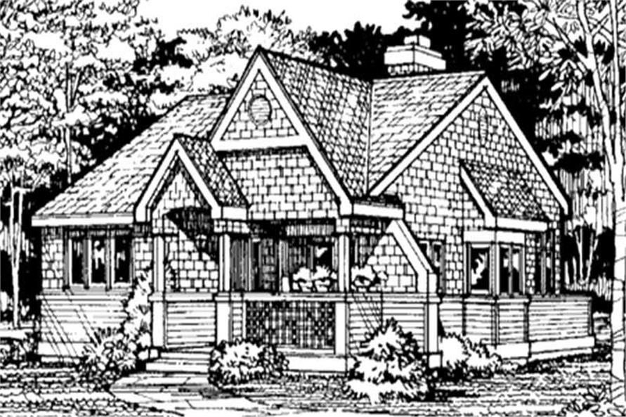 Front elevation for Country Home Plans LS-B-91007.