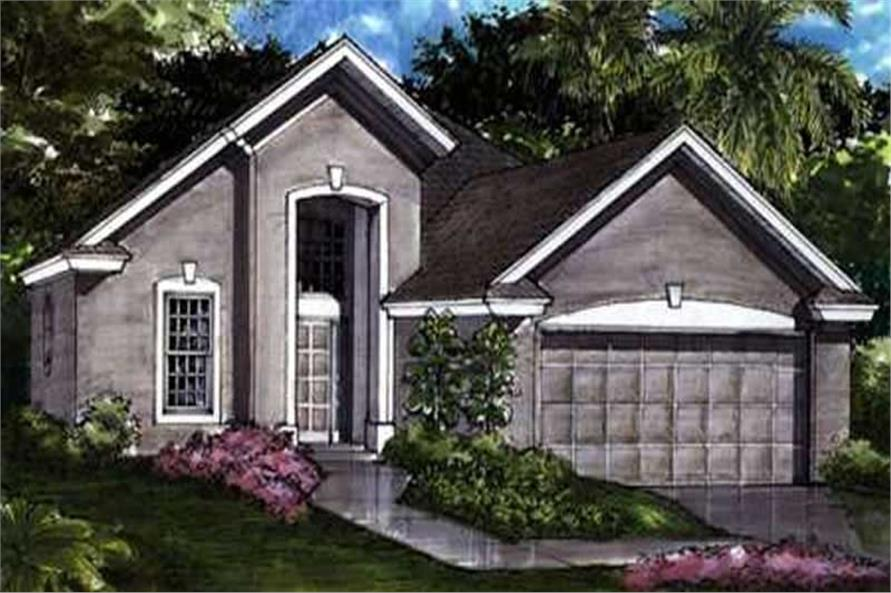 Contemporary Homeplans LS-B-91022 front elevation.