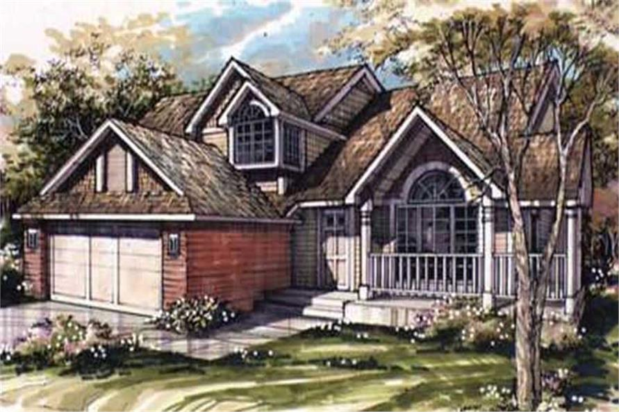 This image shows the Country/Traditional Style of this set of house plans.
