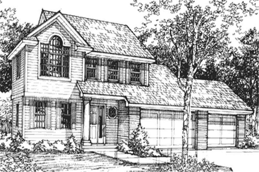 Country Home Plans LS-B-91013 front elevation.