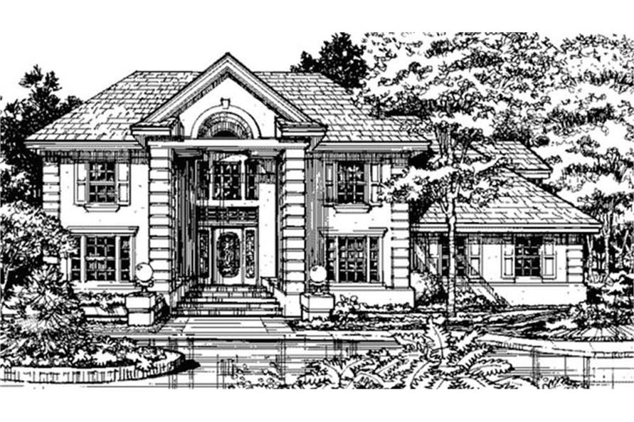 146-1129: Home Plan Front Elevation