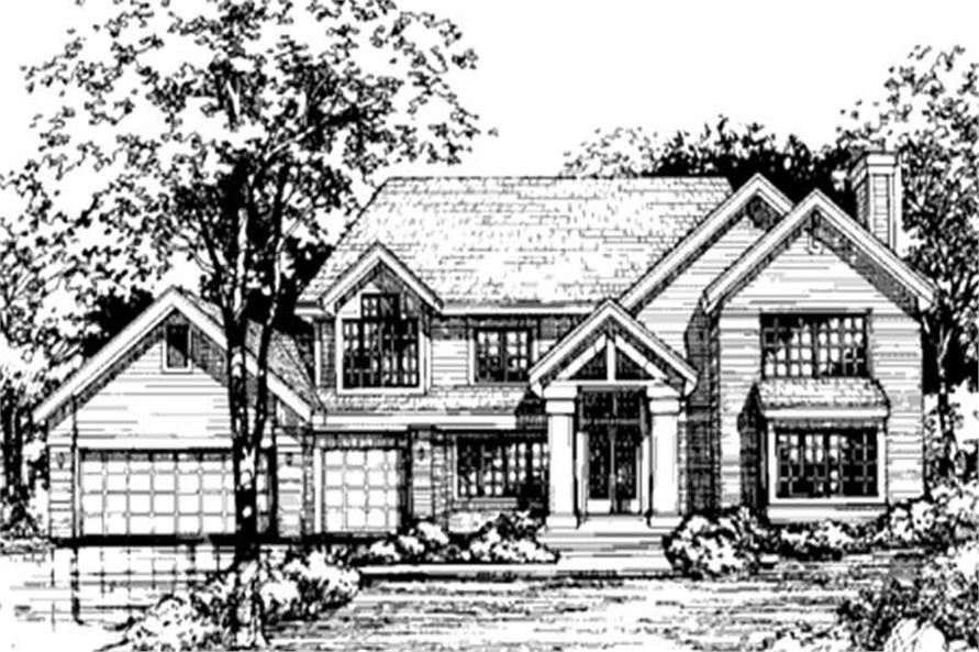 Country Home Plans LS-B-90055 front elevation.
