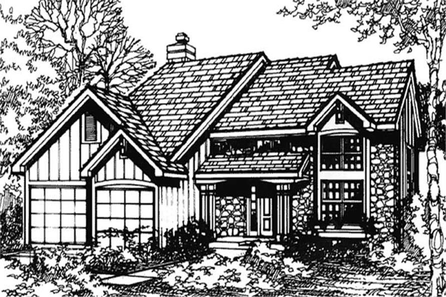 Front elevation image for Country Houseplans LS-B-90054.