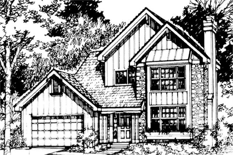 Front Elevation of Country Homeplans LS-B-90027.