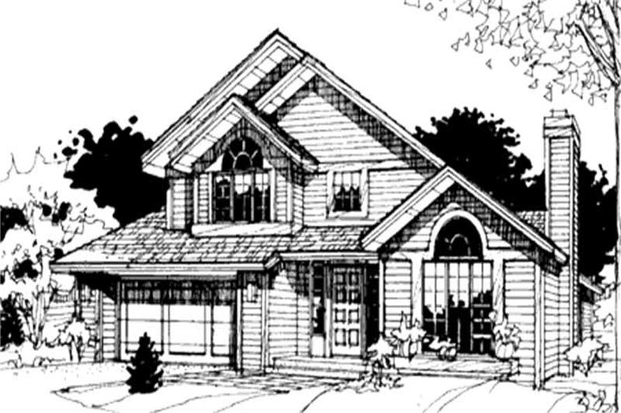 This image shows the Traditional/Country Style of this set of house plans.