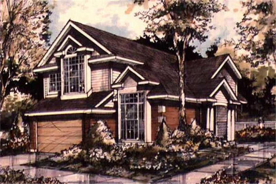 Country Home Plans LS-B-89072 color rendering.