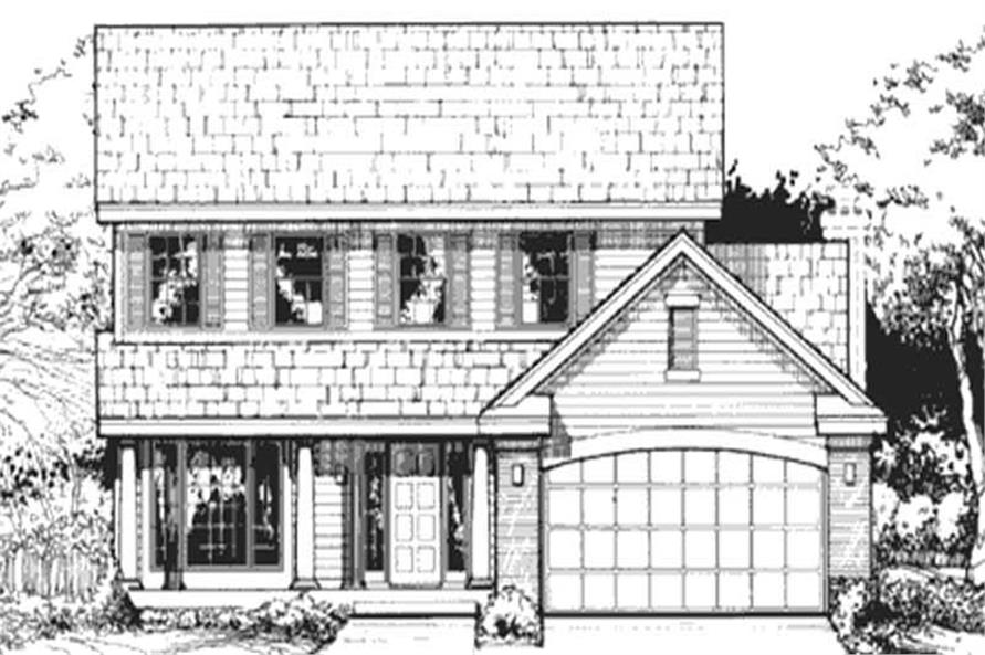 Country Homeplans LS-B-90018 Front elevation.