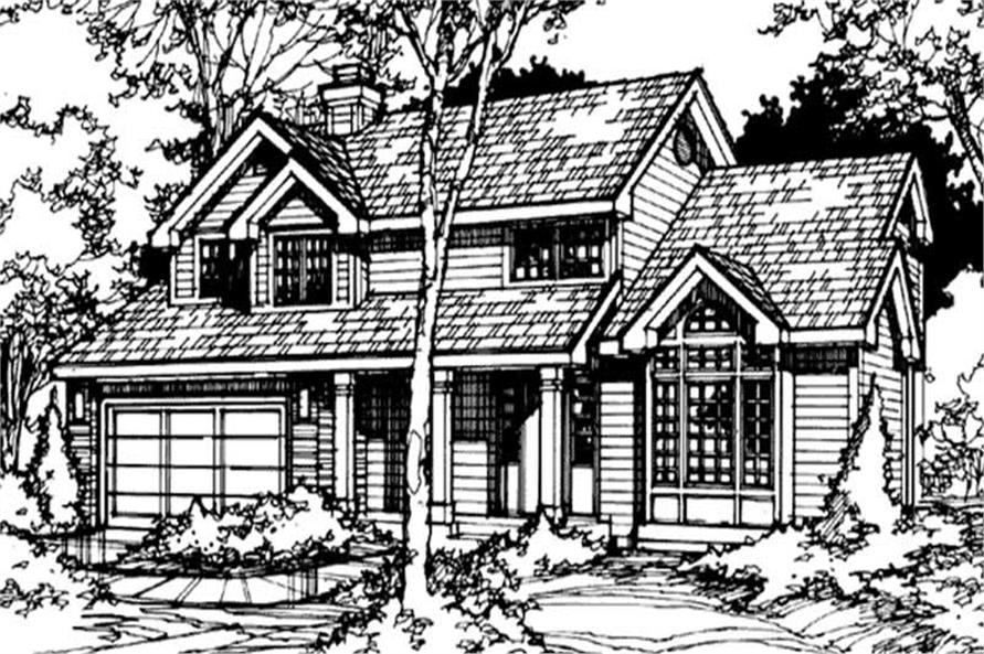 Front Elevation for LS-B-89064 (Country Home Plans)