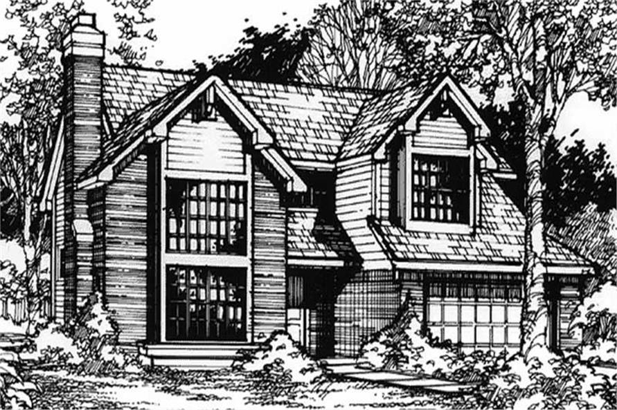 Craftsman houseplans LS-B-90026 front elevation.