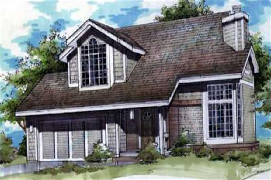 Country Home Plans LS-B-90036 Colored Elevation.