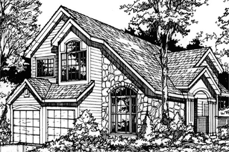 Country House Plans Front elevation for LS-B-90020.