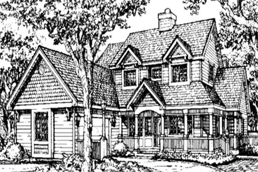 This image shows the Victorian Style of these Country House Plans.